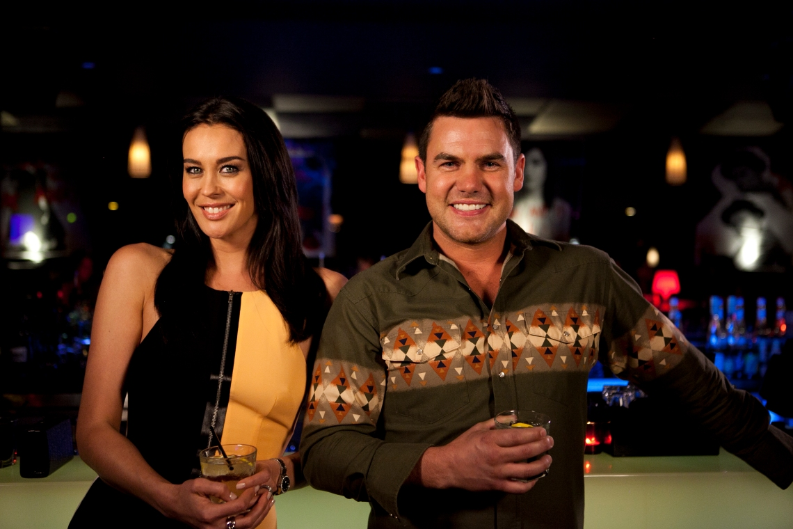 Ep15 Guest star Megan Gale with Ben Mingay 3051